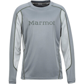 Marmot Windridge with Graphic T-shirt à manches longues Garçon, grey storm